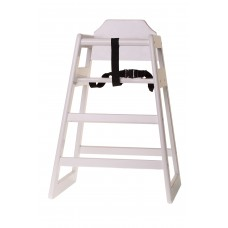 White Painted Wood Highchair