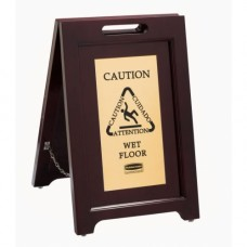 2 Sided Wood Safety Sign
